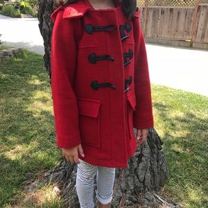 GAP Girls wool red coat